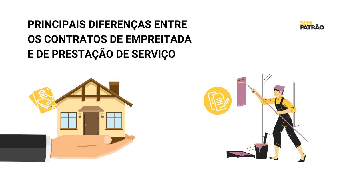 Saiba quais as principais diferenças existentes entre os contratos de empreitada e de prestação de serviço